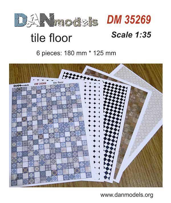 Материал для диорам - кафельные полы (печать на картоне). 1/35 DANMODELS DM35269