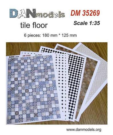 Материал для диорам - кафельные полы (печать на картоне). 1/35 DANMODELS DM35269, фото 2