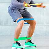 Тренажер-еспандер стрічковий з мішочком (набір фітнес гумком для спорту) 5 шт. по 25 см., фото 5