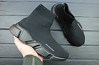 Кроссовки женские Balenciaga Speed Stretch-Knit Mid Black, Балэнсиага,Балансиага / NKR-1529 (Реплика)