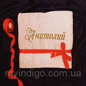 Именное полотенце банное Анатолий