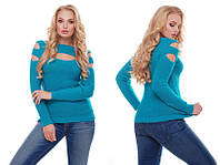 Стильный  женский  вязаный свитер (46-50)