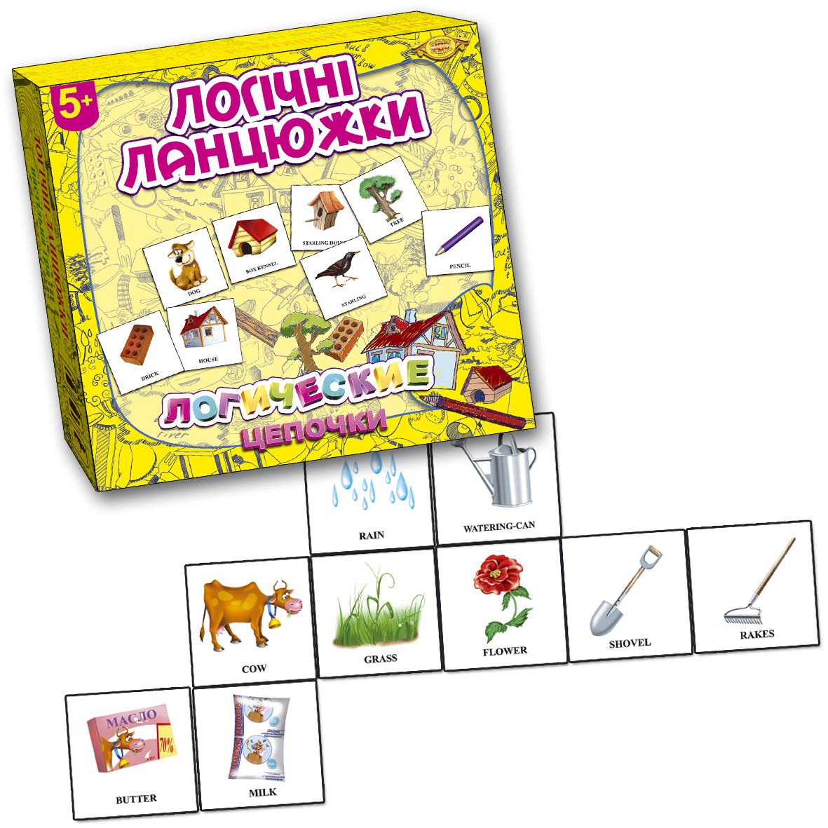 Игра Логические цепочки (Логічні ланцюжки).  Ассоциации. 3-12 лет
