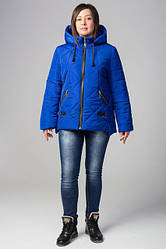 Женская весенняя куртка батал канада цвет электрик размер 52 54 56 58 60 62 64