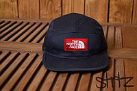 Пятипанельная реперка молодежная снепбек американский норс фейс TNF The North Face темно синий реплика, фото 1