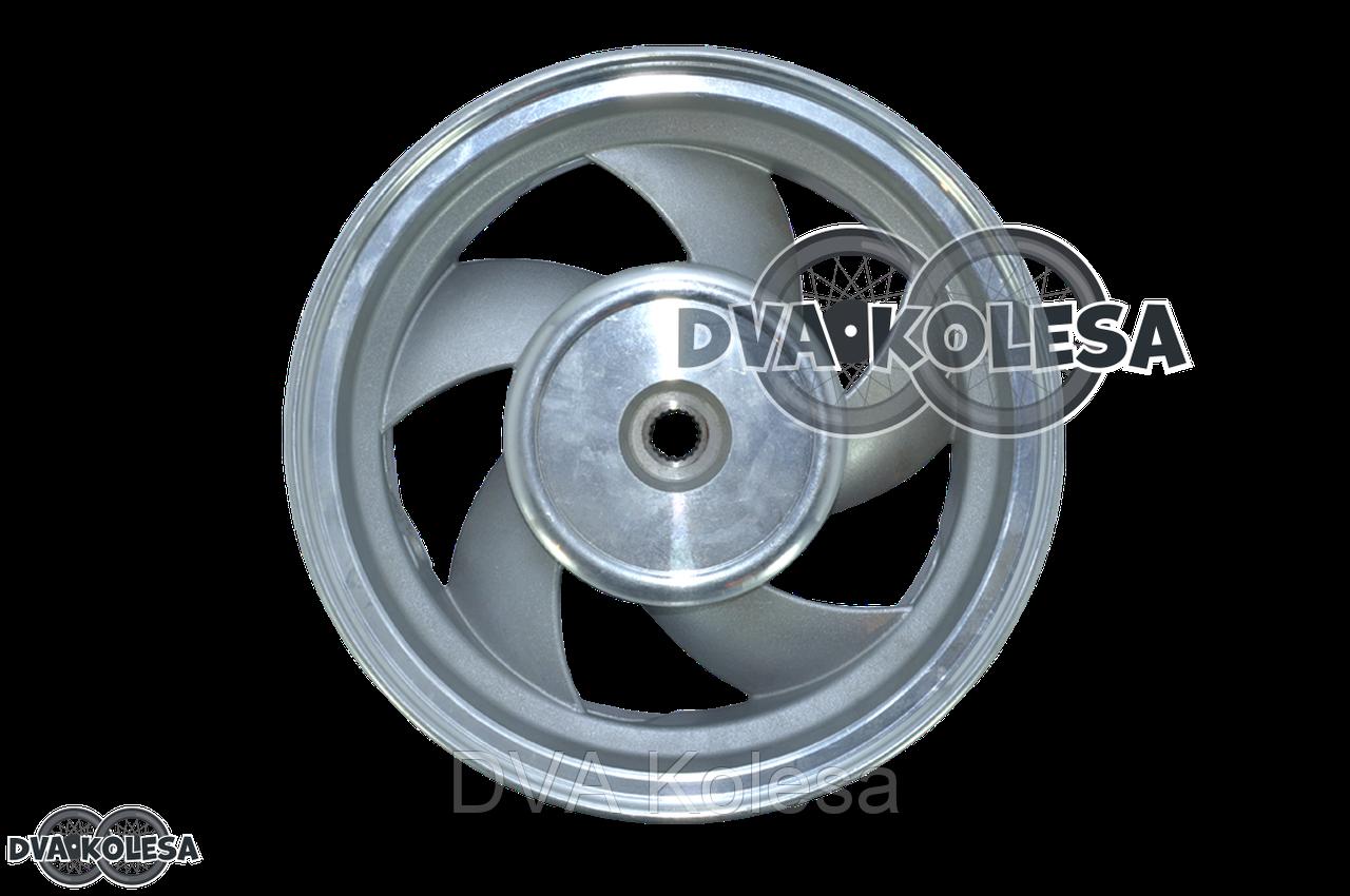 Диск колеса задний  2.50-10  литой, 19 шлицов, 5 спиц, барабан 130mm  (пропеллер)
