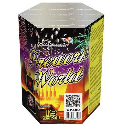 Фейерверк \ Салют FIREWORKS WORLD Мировой Фейерверк Калибр 30мм \ 19 выстрелов GP499
