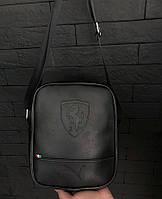 5c69fda0d4d1 Сумка мужская через плечо почтальенка брендовая Puma Ferrari копия высокого  качества