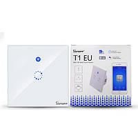 Sonoff Touch T1 Сенсорный WiFi+Радио 433 МГц Настенный Выключатель одно-канальный c подсветкой EU