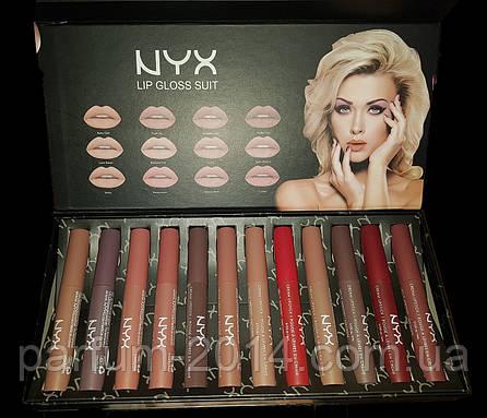 Набор матовый блесков от NYX lip gloss suit (реплика), фото 2