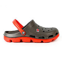 Сабо мужские (кроксы) Серый-0203 Красный-0303 45р.