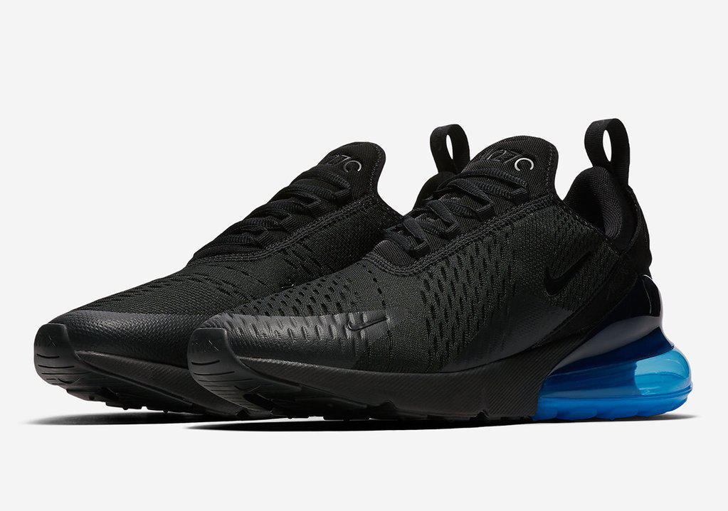 Мужские кроссовки Nike Air Max 270 Black Photo Blue - Интернет магазин  krossovkiweb.kiev. 78dfbfcd716
