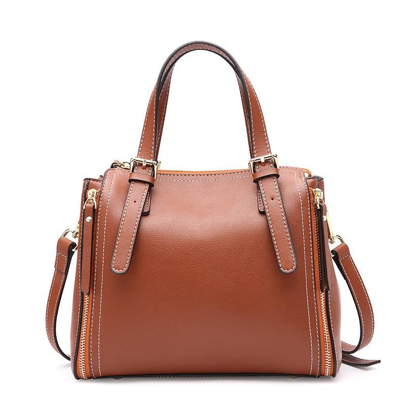 8fcb939b385a Женская сумка стильная кожаная коричневая купить по выгодной цене в ...