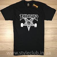 Thrasher топовая футболка | Оригинальная бирка | Трешер мужская качественная реплика