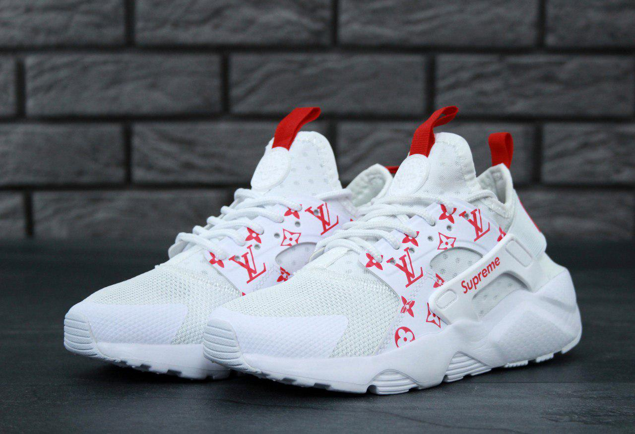 Кроссовки Nike Huarache White Supreme Louis Vuitton