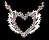 Подвеска - кулон серебряная Сердце с крыльями 60153, фото 2