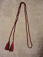 Пояс косичка чернокрасный | Пояс косичка чорночервоний
