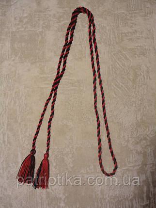 Пояс косичка чернокрасный | Пояс косичка чорночервоний, фото 2