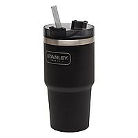 Термочашка с соломинкой Stanley Adventure Quencher 0.6 л, черная