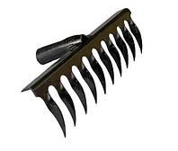 Грабли витые черные 10 зубьев 1254