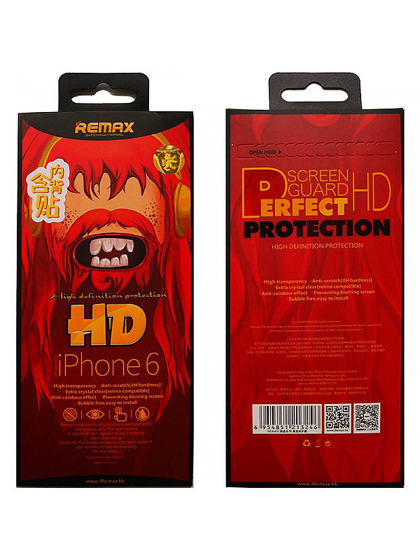 "Защитная пленка Remax High Definition Protection for iPhone 6 4.7"""