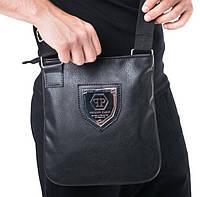 a57b11c28a99 Сумка мужская через плечо почтальенка брендовая Philipp Plein копия  высокого качества