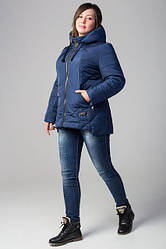 Женская весенняя куртка батал канада цвет синий размер 52 54 56 58 60 62 64