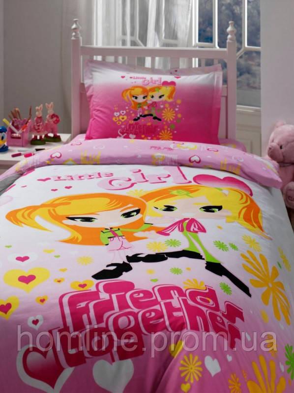 Постельное белье Storway ранфорс Little Girl розовое полуторного размера