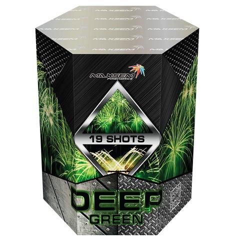 Фейерверк \ Салют DEEP GREEN Темно-Зеленый Калибр 30мм \ 19 выстрелов GWM5028