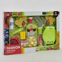 Вафельница с продуктами - детский игровой набор: продукты, вафельница, кухонные приборы. XJ 328 Р-2