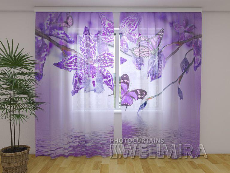 ФотоТюль Фиолетовая Орхидея