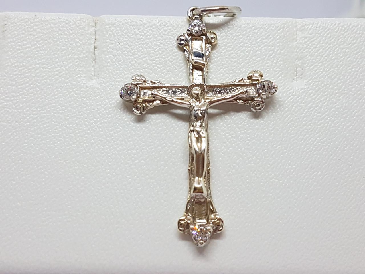 Серебряный крест Распятие Христа. Артикул 3010р