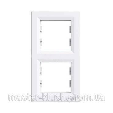 Рамка двойная вертикальная Schneider Electric Asfora