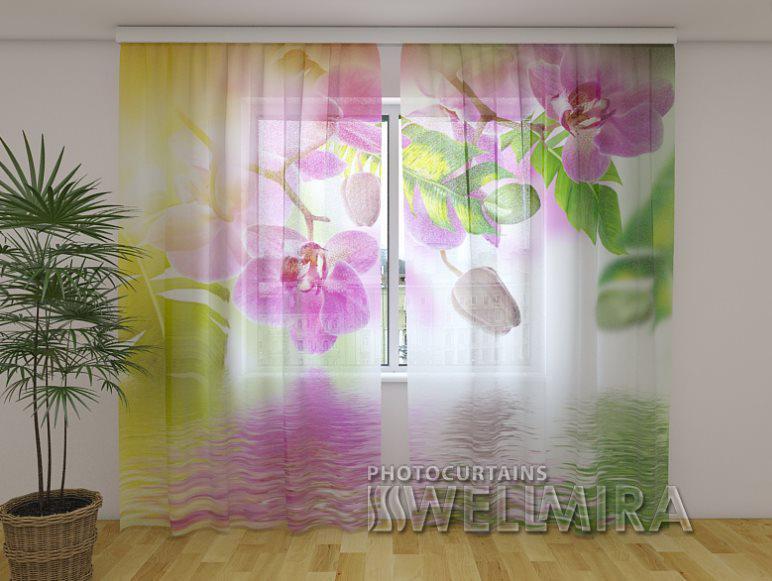 ФотоТюль Летние Орхидеи