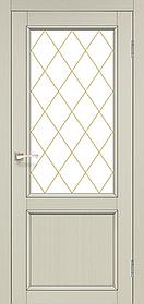 Межкомнатные двери экошпон Модель CL-02 со штапиком