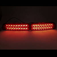 Световозвращатели катафоты заднего бампера ВАЗ 2170, 2172 светодиодные