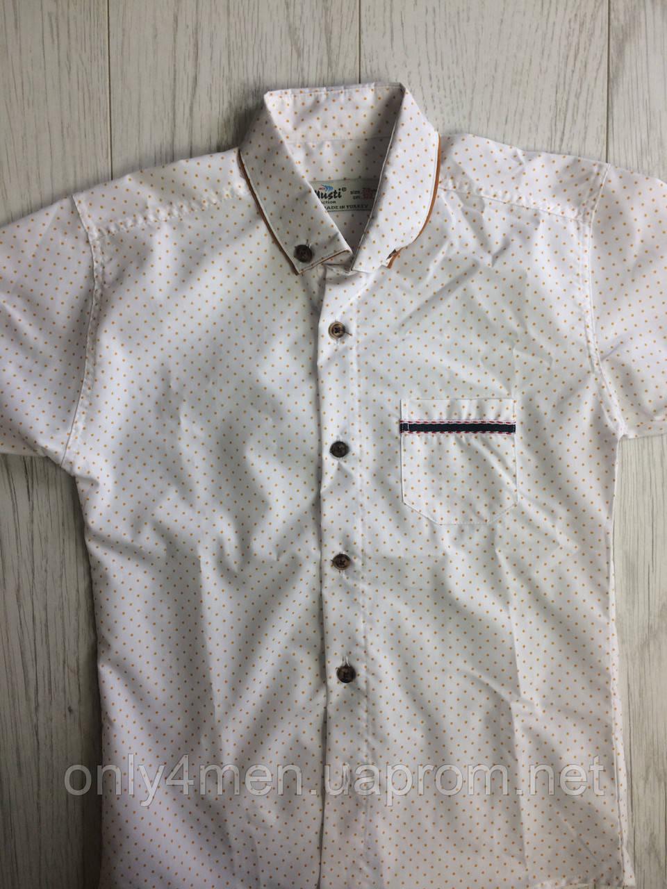 Рубашка с коротким рукавом для мальчиков 7-8 лет