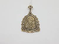 Серебряная ладанка-образ Богородица Казанская. Артикул 3017, фото 1
