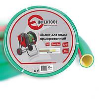 Шланг для полива 3/4 100 м 4-х слойный армированный PVC Intertool GE-4127