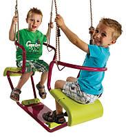 Качели детские подвесные «Фло» двойные KBT Бельгия (гойдалка дитяча підвісна подвійна КБТ Бельгія), фото 1