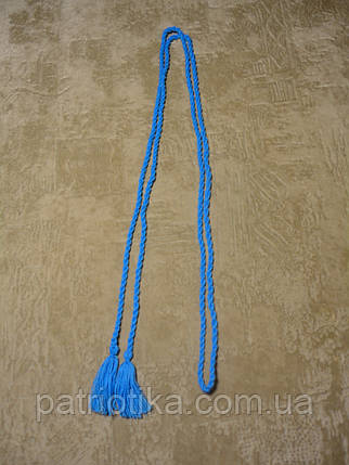 Пояс косичка голубой | Пояс косичка голубий, фото 2