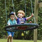 Гойдалка дитяча підвісна «Овал» подвійна KBT Бельгія для дітей, фото 9