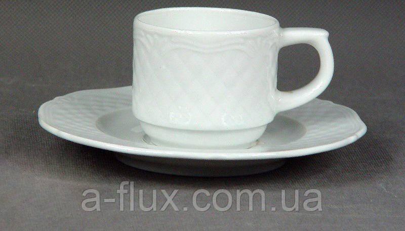 Чашка с блюдцем Afrodyta Lubiana 100 мл