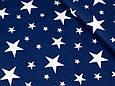 Сатин (хлопковая ткань) на синем фоне белые звезды, фото 3
