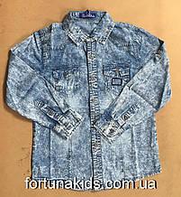 Джинсовые рубашки для мальчиков S&D 8-16 лет