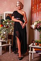 Вечернее черное шифоновое платье Венера Д1 Медини 42-46р