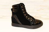 Ботинки женские зимние черные С369 р 37, фото 1