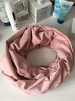 Розовый ажурный хомут из хлопка