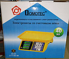 Весы торговые Domotec MS-266 40 кг (двойное табло), фото 2