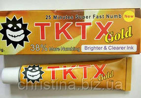 Крем анестетик для кожи TKTX Gold 38% 10гр. Лидокаин 5%, Прилокаин 5%, Эпинефрин 1%